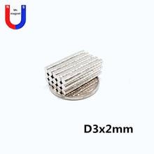 2000pcs 3*2 Strong Round Dia. 3mm x 2mm N35 Rare Earth Neodymium Magnet Art Craft Fridge Neodimio Imanes 3x2 цена