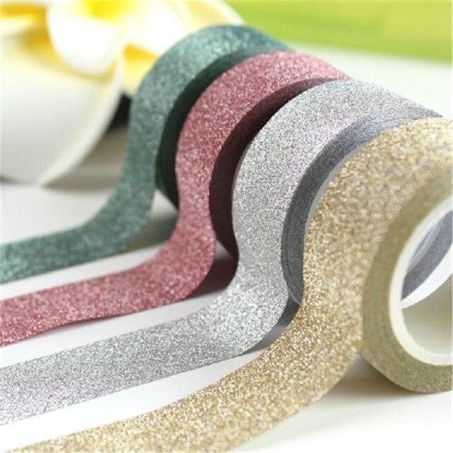 3M Glitter Sticky Paper Masking Adhesive Tape Label DIY Craft Decorative Wall Stickers