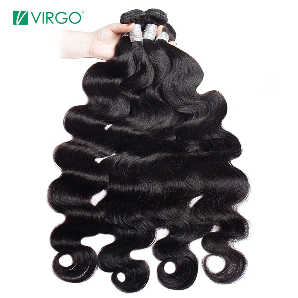 Virgo 30 32 34 36 38 40 Inch Bundles Body Wave Brazilian Human Hair Weave Bundles Long Remy Hair Extensions 3 4 PCS Hair Weft