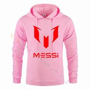 Image 5 - Lionel Messi Calcio Con Cappuccio Unisex Adulto Argentina Barcelona Hoody Gioventù