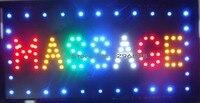 2017 Masaj neon işaretleri sıcak satış 10X19 inç kapalı Masaj bakım dükkanı Ultra Parlak koşu Led işareti