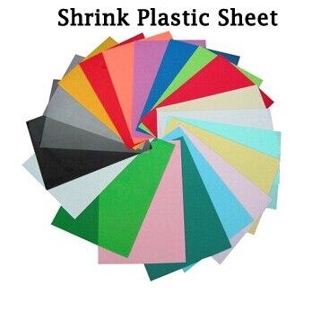 DIY Magic Shrink Plastic Sheet Clear Film Red Yellow Blue Black ...