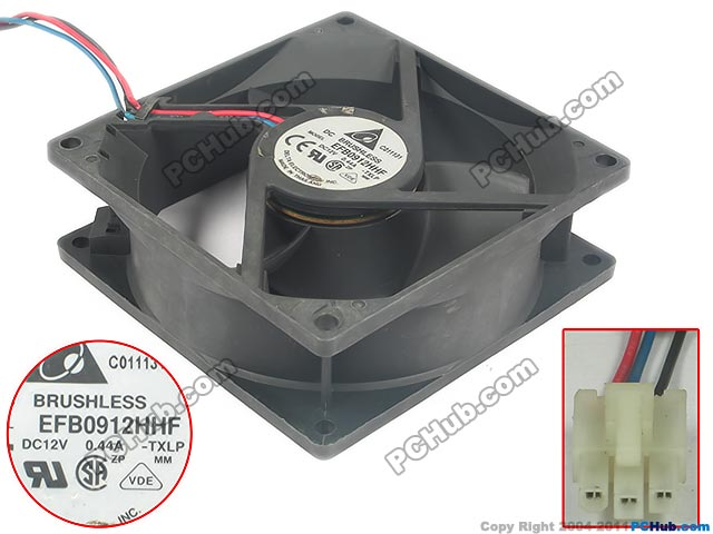 Delta Electronics EFB0912HHF TXLP Server Square Fan DC 12V 0.44A 90x90x32mm 3-wire
