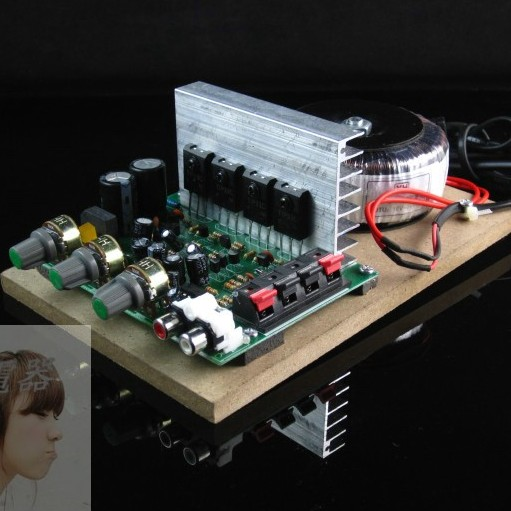 200W220 volt high power field effect transistor front stage + post stage power amplifier Hi-Fi