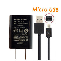 100 Original Xiaomi Charger 5V 2A Fast Charger US Plug Adapter Micro USB 2A Quick Cable