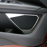 Fit For 2017 Peugeot 5008 3008 GT Accessories Stainless Steel Car Door Speaker Decorative Ring Cover