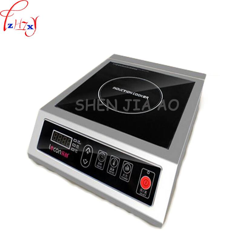 Commercial Induction Cooker 3500W Flat High Power Induction Cooker Industrial Induction Cooker Hotel Stove Furnace Drum Sink 1pc dmwd electric induction cooker waterproof high power button magnetic induction cooker intelligent hot pot stove 110v 220v eu us