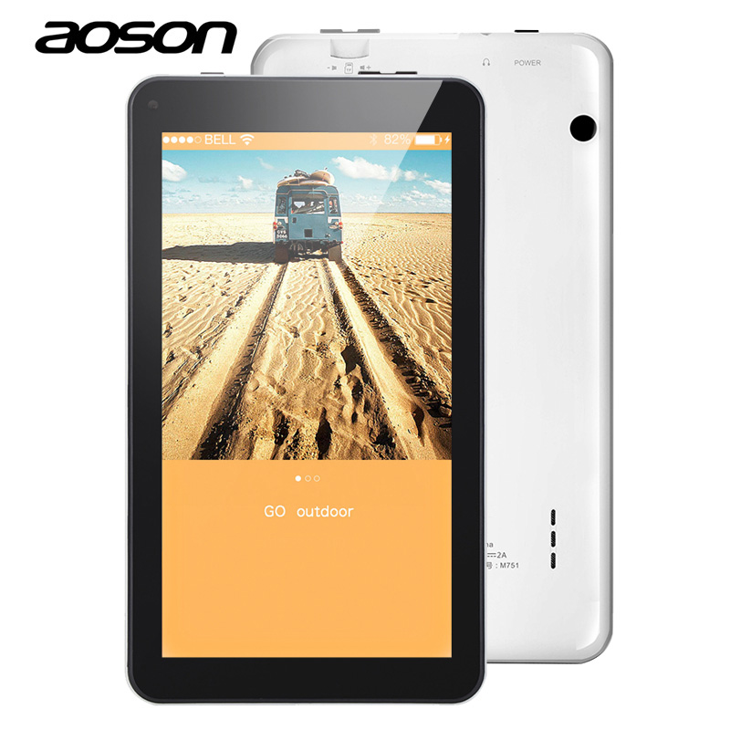 New AOSON M751 7 Inch Android 5.1 Tablet PCs 1024*600 IPS Screen Tablets 8GB ROM 1GB RAM Quad Core Dual Camera WiFi Bluetooth FM aoson m751 маленькая любовь s2 7 дюймовый tablet pc quad core 1 гб 8 гб wi fi ips screen