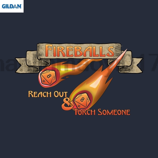 GILDA D&ampD Tee - Fireballs T-Shirt