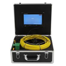 Pipe Inspection Video Camera 9in LCD 6LED 30M Cable Sewer Inspection Endoscope System 100-240V Borescopes