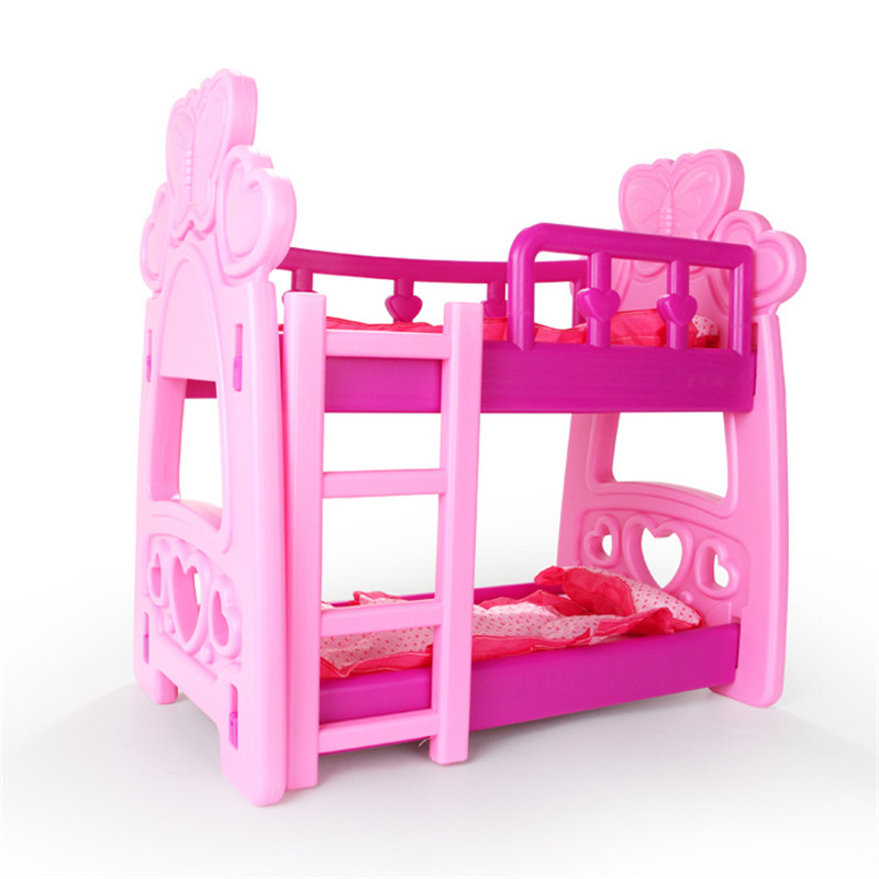 Us 14 71 36 Off Baby Doll Accessories Girls Toys Doll Furniture Toy Shaker Play House Simulation Toy Crib Doll Feeding Table Role Playing Games In