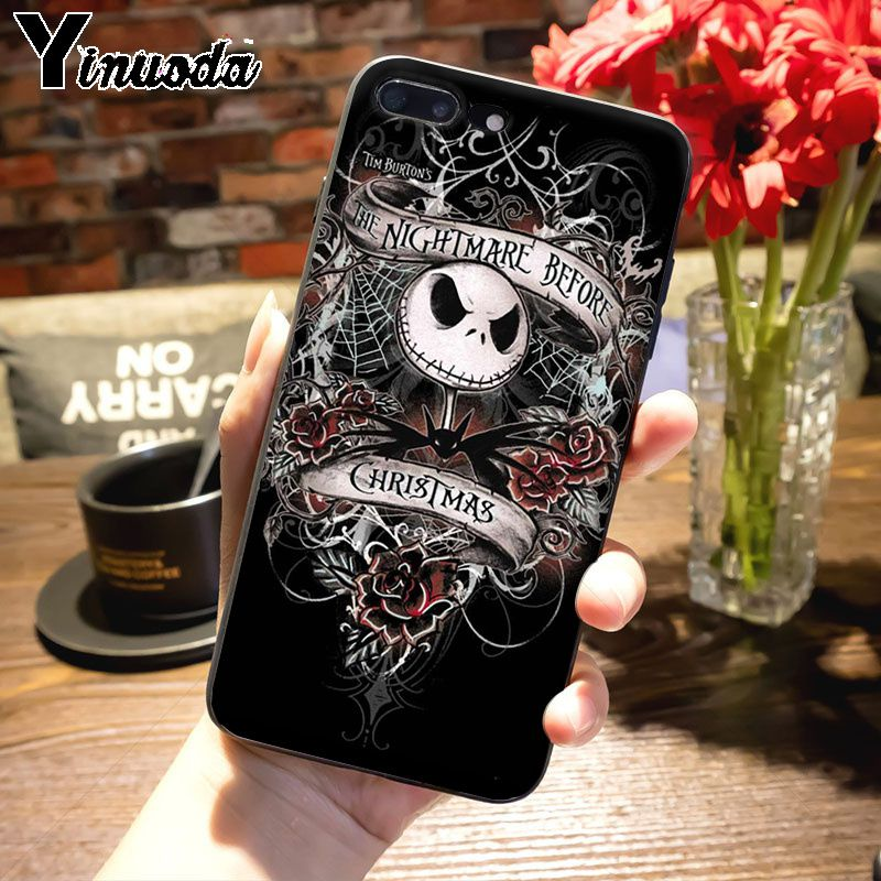 Yinuoda Mexican Skull Girl tattooed Art Top Detailed Popular Case for iPhone 7plus X XS XR XS MAX 6 6S 7 8 8Plus 5 5S case in Half wrapped Cases from Cellphones Telecommunications