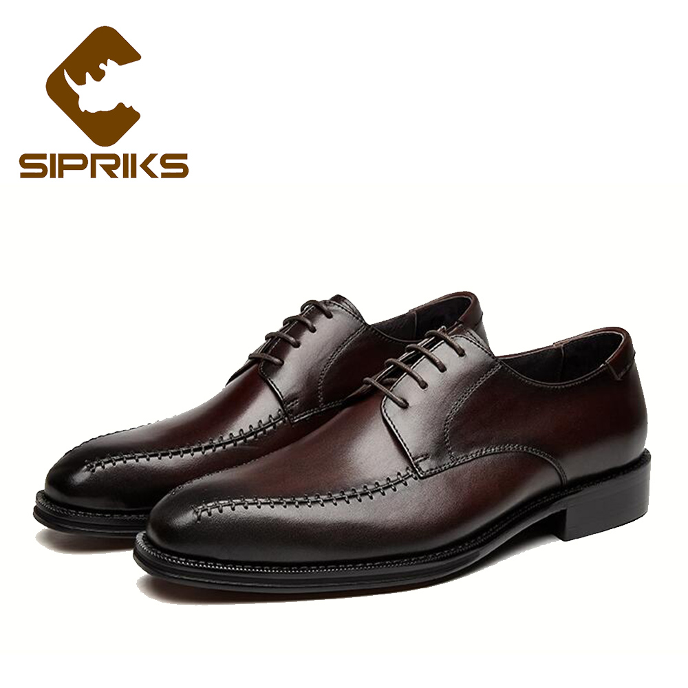 SIPRIKS hand crafted shoes waxed thread for sewing leather dress shoes for men hipster formal tuxedo shoes tan leather wedding