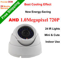 2015 New AHD 1 0Megapixel CCTV Camera IR Led Light Day Night Vision Color Image Dome