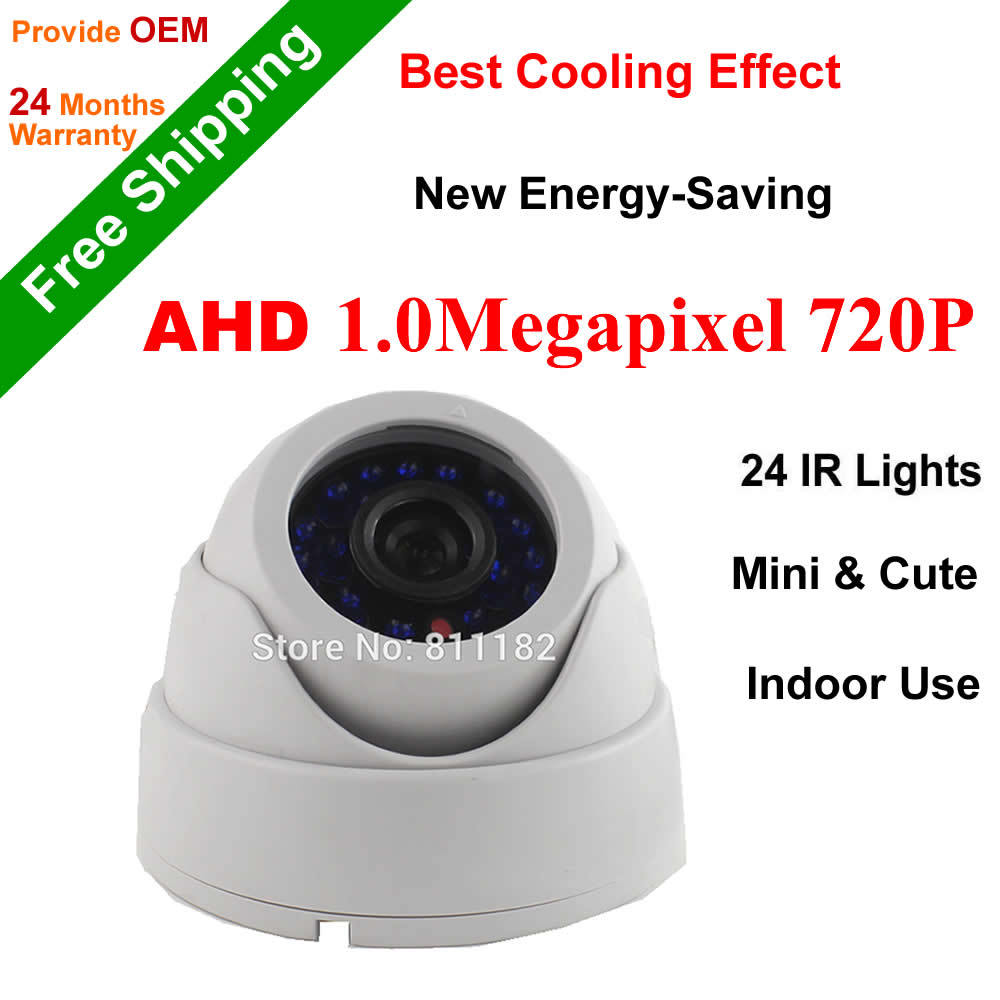 2017 AHD 1.0MP CCTV Camera High Definition IR led Light Day night vision color image dome indoor 720P IRCut surveillance Camera 4 in 1 ir high speed dome camera ahd tvi cvi cvbs 1080p output ir night vision 150m ptz dome camera with wiper