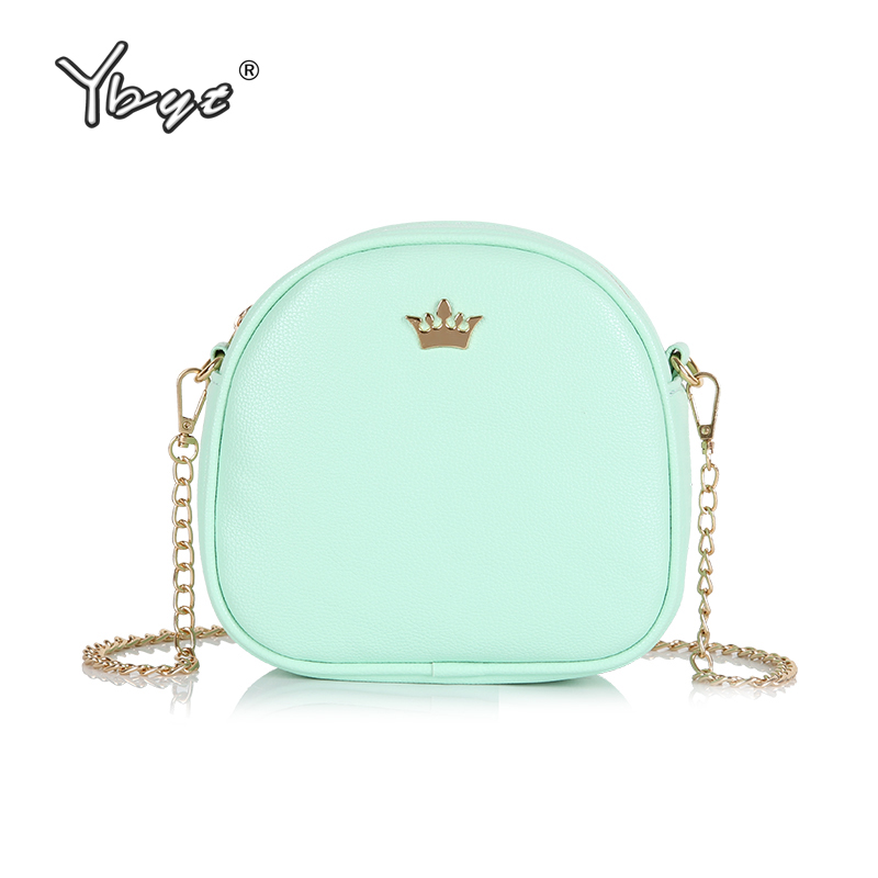 YBYT brand 2018 new flap chains sequined crown satchel hotsale women shopping coin purse ladies shoulder messenger crossbody bag