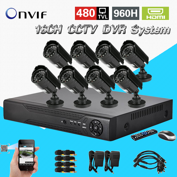 TEATE 8CH CCTV Security Camera System 16CH HDMI DVR Outdoor Day Night IR Camera DIY Kit Color Video Surveillance System CK-204  16ch video camera recorder dvr with 16pcs outdoor waterproof ir day night vision surveillance camera 16ch security sytem dvr kit