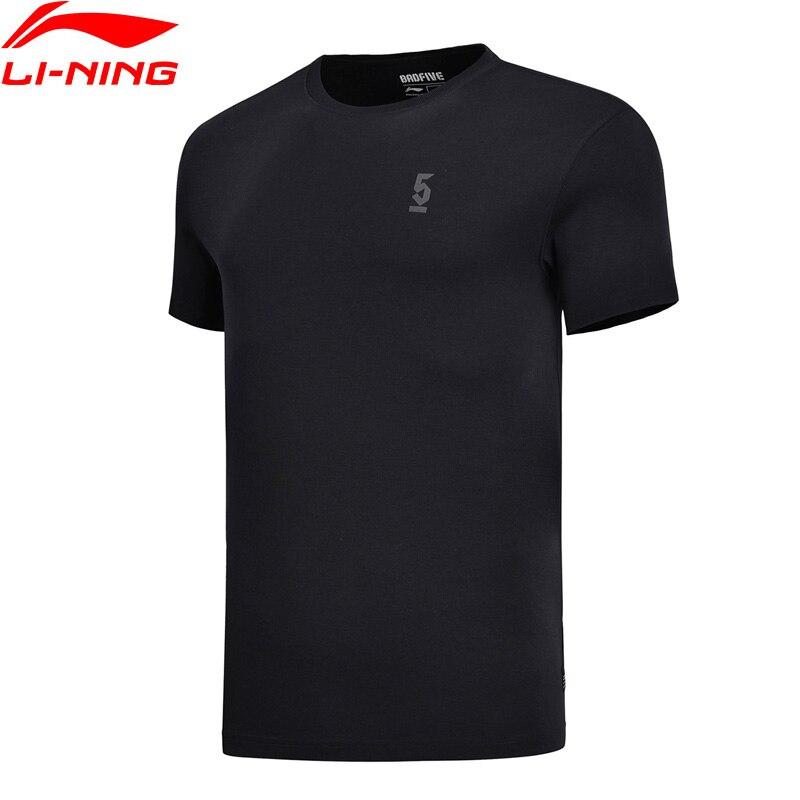 Li-ning גברים רע חמש כדורסל גופיות 100% כותנה לנשימה רגיל Fit רירית נוחות ספורט חולצות AHSN063 MTS2789