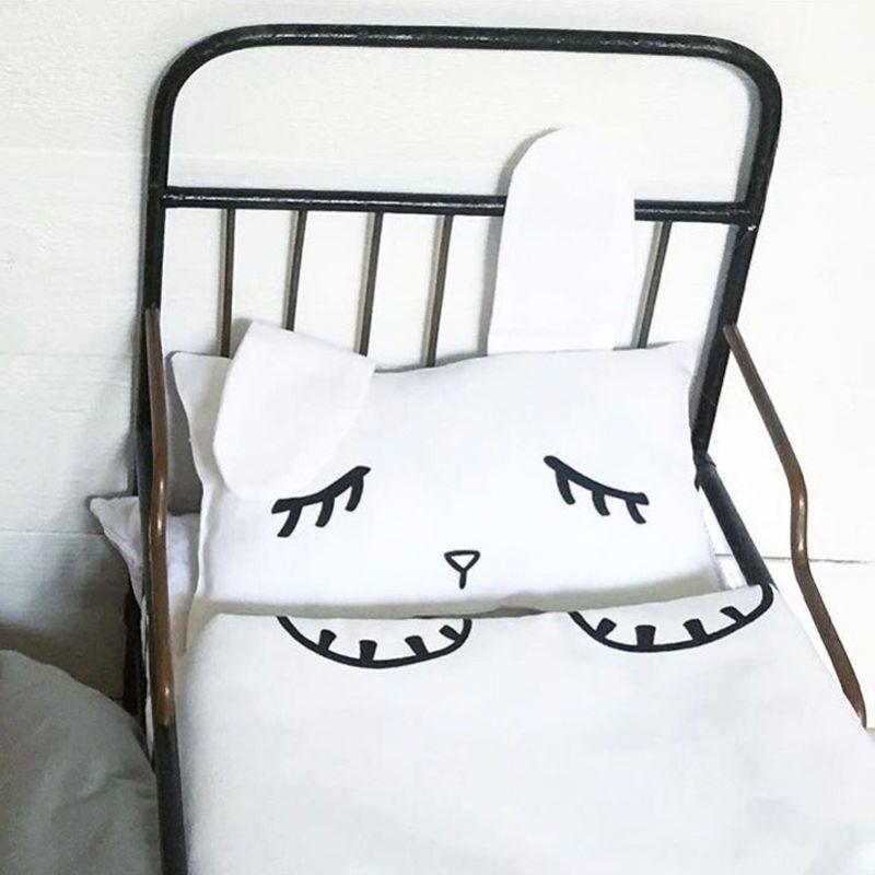 ФОТО 2 Pcs Newborn Cotton Crib Bed rabbit Cartoon Baby Bedding Set Includes Pillowcase baby blanket play mat