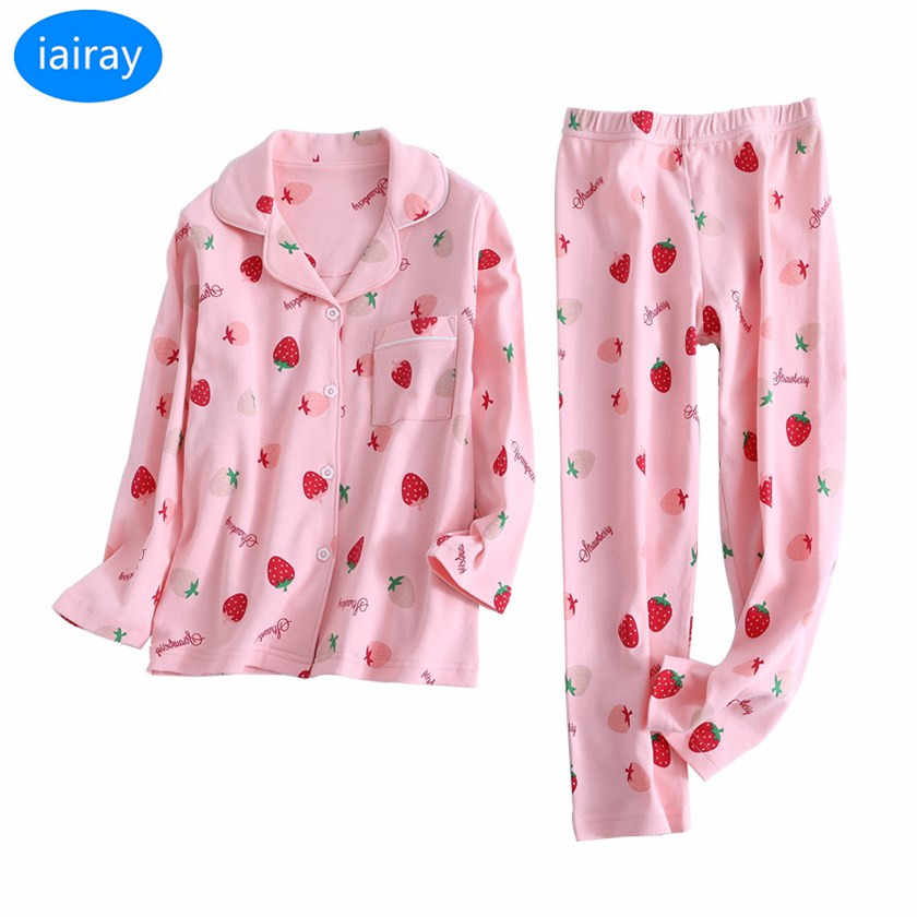 Detail Feedback Questions about iAiRAY child sleepwear kids pajamas sets  autumn winter cotton fabric nightwear christmas pajamas for girls pyjamas  kids ... f6d56b4fa