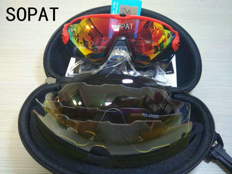 HTB18yQNPVXXXXctaXXXq6xXFXXXK - 2018 4 Lens Mountain Velo Goggles Polarized Jaw Breaker Sunglasses Men Women MTB sopat Eyewear JBR Sun Glasses with Myopia Frame
