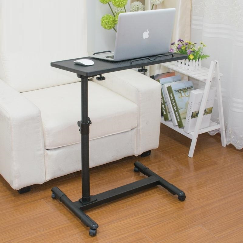DG#6781  A simple language Wo steel lazy table bedside folding laptop comter desk on bed FREE SHIPPING 250633 sofa side stand up and down movable bedside table simple lazy table laptop table bed table with desk