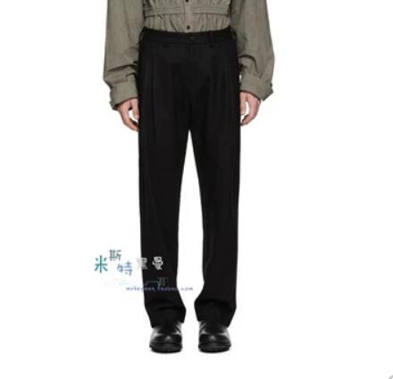 27-44 2019 Neue Männer Der Kleidung Zipper Dekoration Gefaltete Breite Bein Hosen Hohe Taille Gerade Plus Größe Casual Hosen Kostüme GroßEs Sortiment