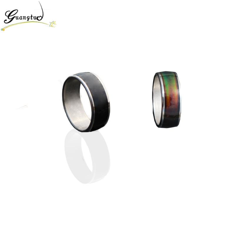 Moda anillo de humor del cambio del color emoción sentimiento Mood anillo  banda cambiante temperatura anillo tamaño 17 20 Acero inoxidable Anillos en  ... 1be89d264fb