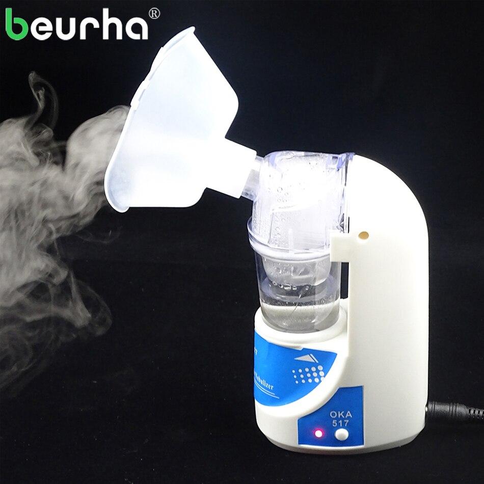 Beurha 110 v/220 v Hause Inhalator für Erwachsene & Kinder Pflege Inhalieren Asthma Inhalator Ultraschall Vernebler Tragbare Atomiseur inhalator