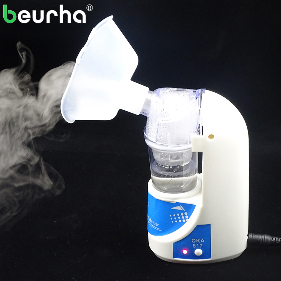 Beurha 110V/220V Home Inhaler for Adults & Children Care Inhale Asthma Inhaler Ultrasonic Nebulizer Portable Automizer Inhaler 110v 220v portable home health care atomizer beauty instrument children care inhale nebulizer humidifier