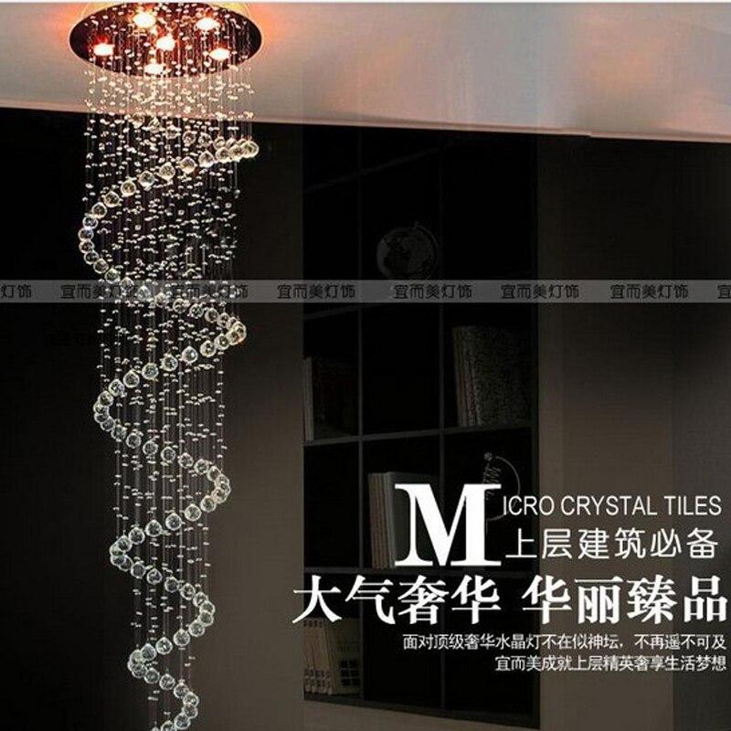 Crystal combination Stair lamp k9 crystal lamp stair pendant light spiral crystal pendant lamp living room lights SJ112 lo1020 stair light