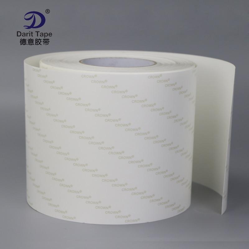 Ultra transparent PET solide sans soudure ruban adhésif double face papier anti-adhésif double face adhésif double face