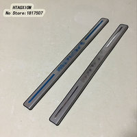 Stainless Door Sill Strip Scuff Plate Covers For Smart Fortwo 2012 2014 Car Styling Stickers Auto