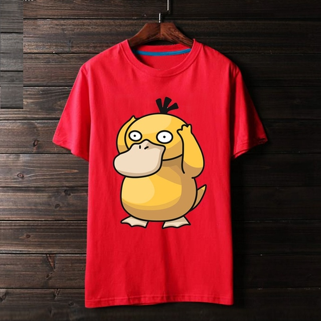6a71ad02 2018 Pokemon Psyduck Cute Anime Duck 3D Print Animal Unisex 100% Cotton Men T  shirt Comfortable Homme Loose Teens Cloth-in T-Shirts from Men's Clothing on  ...
