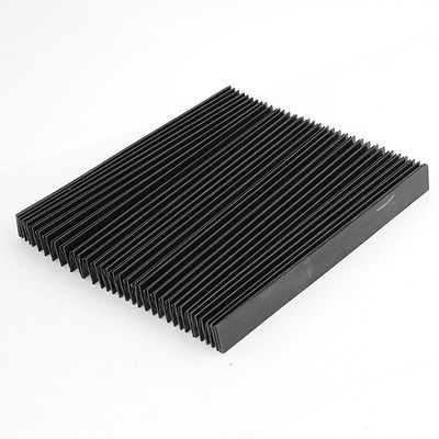 Protective Synthetic Rubber Rectangle Accordion Dust Cover unfolded 100cm x 19cm x 2cm folded 19 x 6 x 2cm a pair dust cover black 230mm x 35mm motorcycle fork rubber gaiters boots protective sleeve