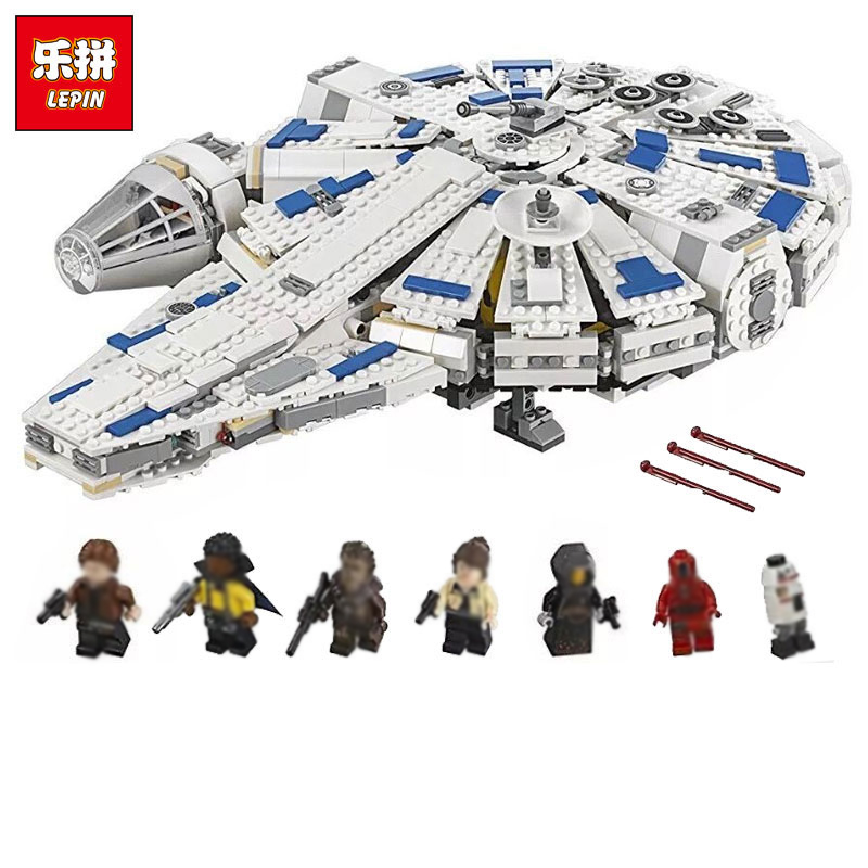 LEPIN 05142 Star Wars Series Building Blocks Force Awakens Kessel Run Millennium Legoing 75212 Toys Falcon Model Kids Toy Gifts dhl lepin 05142 star building blocks force toy awakens millennium kids toys falcon model legoings 75212 birthday christmas gifts