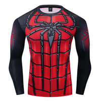 ¡Novedad de 2019! Camiseta con estampado de hombre 3D de Spiderman de Marvel, camiseta de compresión, camiseta de poliéster, traje de Cosplay de manga larga