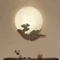Китайский стиль смолы LED бра отель Гостиная чайхана классические лампы Книги по искусству деко проход коридора настенный светильник za1124627