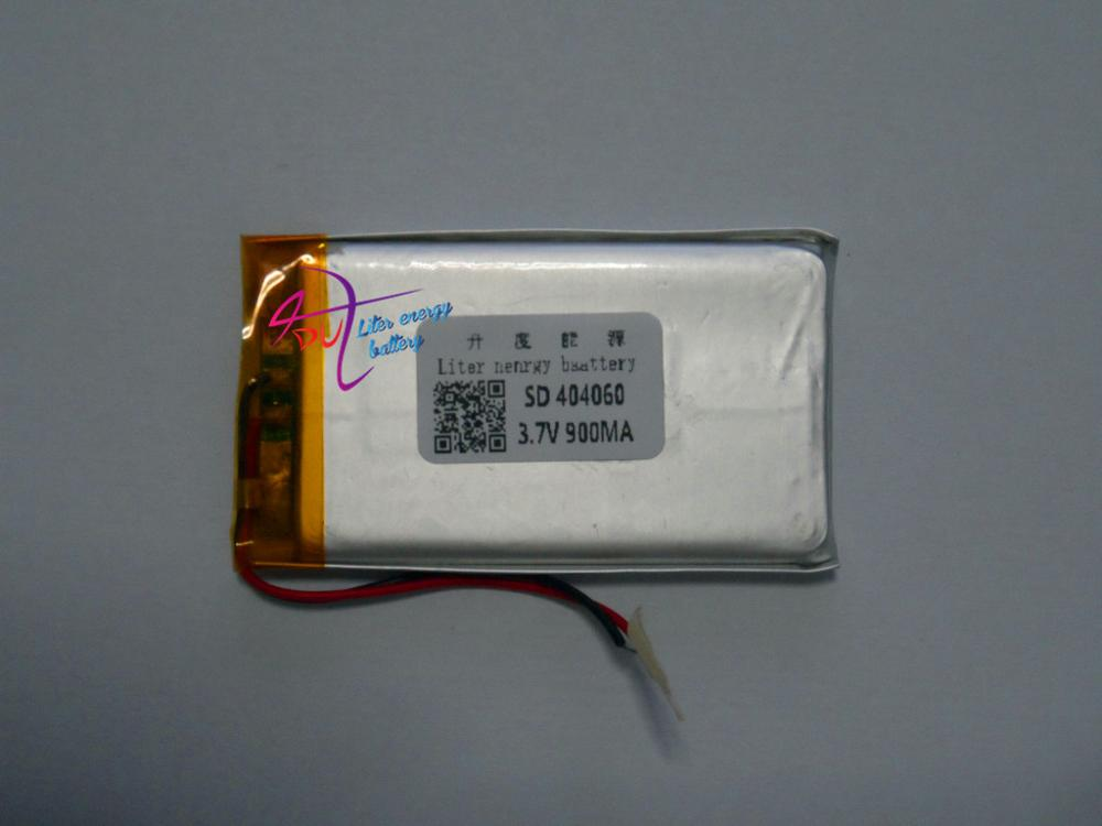 3 7V lithium battery 404060 044060 mp5 5 inch e book reading machines navigator 900MAH