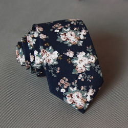 RBOCOTT Floral Ties For Men Printed Cotton Tie Mens Ties 6cm Slim Neck Tie Skinny Necktie For Wedding Party 6