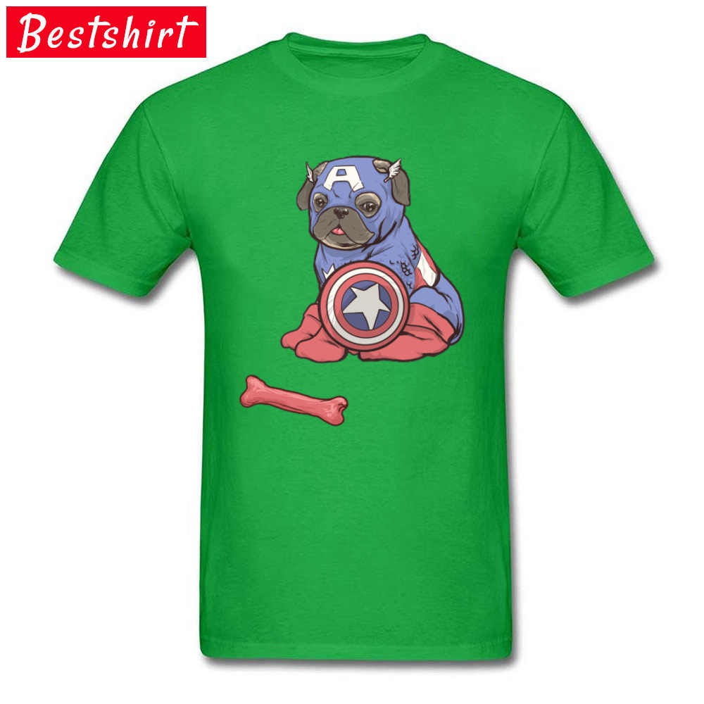 Капитан Америка Мопс и футболки с принтом костей терьер пекинес Пудель юмором забавная Футболка 100% хлопок мультфильм комиксы Marvel футболки