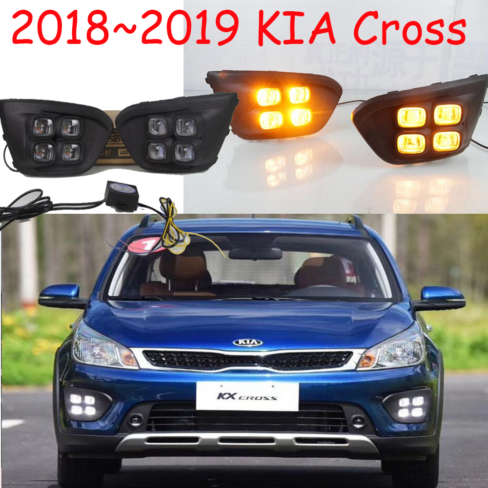 LED,2018 KlA KX cross daytime Light,kx cross fog light,kx cross headlight;soul,k5,sorento,kx5,Sportage R,K 3 ,Rio,cerato,KX 5 green hill макивара green hill coach