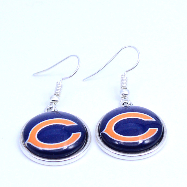 Earrings Chicago Bears Charms Dangle Sport Football Jewelry For Women Birthday Party Gift 5