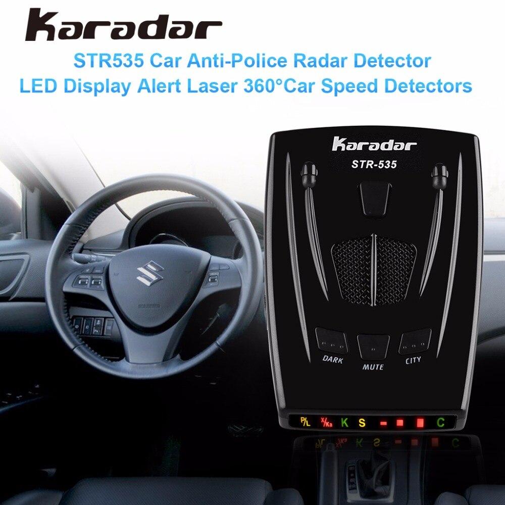 imágenes para KARADAR STR535 Detección Laser Detector de Radar Del Coche de 360 Grados Pantalla LED Anti-Radar de la policía Detector Alerta de Alarma Por Voz