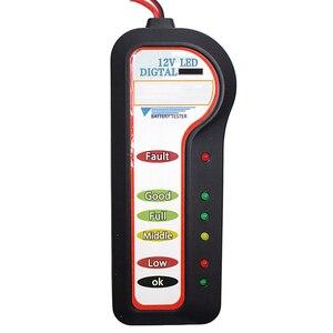 Image 4 - Analizzatore della batteria del veicolo dellautomobile di tensione dellalternatore dello strumento diagnostico del Tester della batteria dellautomobile 12V