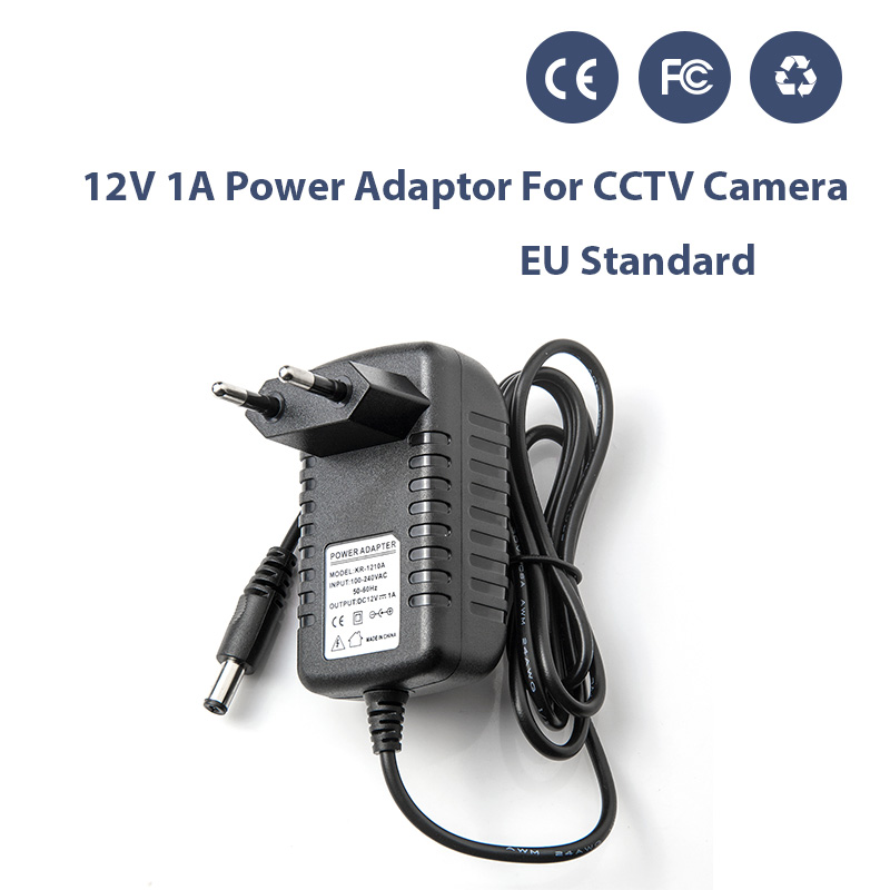 AC 100-240V DC 12V 1A EU/US/AU/UK Plug AC/DC Power Adapter Charger Power Adapter for CCTV Camera  Alarm DIY Kit (2.1mm * 5.5mm) 100pcs us eu uk au plug ac line 1 5m dc line 1 2m ac100 240v to dc 24v 1a 24w power adapter 24v1a ac adapter