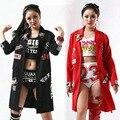 Alta Calidad de La Moda Gd hiphop Hip Hop ropa de abrigo Mangas largas Ds Rendimiento Trajes de Chaquetas de las mujeres Abrigos