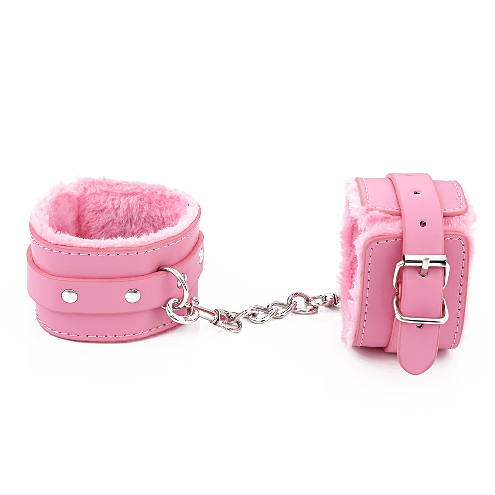 PU Leather Plush Handcuff Cuff Restraints Bondage Sex Toy Restraints Sex Accessories Sex Toys for Couples Bdsm Sex Bondage in Gags Muzzles from Beauty Health