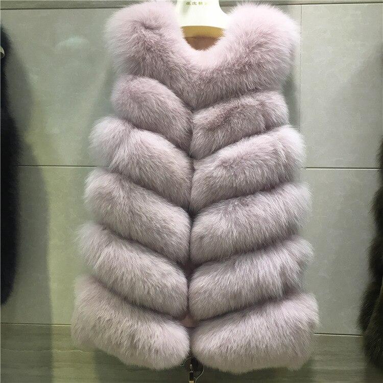 Formelle Qualité noir D'importation Gilet Long 2019 Fausse Fourrure Manteau argent ardoisé 4xl Hiver De S Vison Femmes Beige rouge En rose Haute Arrivée Veste qwtSf