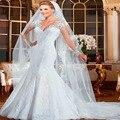 Sexy Vestido de noiva Sereia Lace Vestido de Noiva 2015 Robe de mariage vestido de casamento Ver Através de vestidos de noiva
